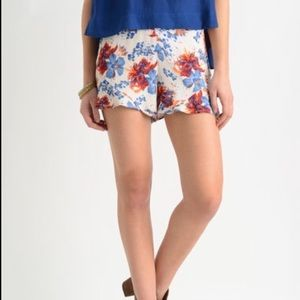 Free People Fiona Floral Print High Rise Short